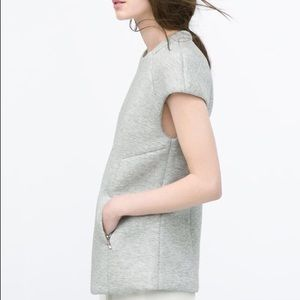 Zara Z1975 Light Gray Structured Top with Pockets!